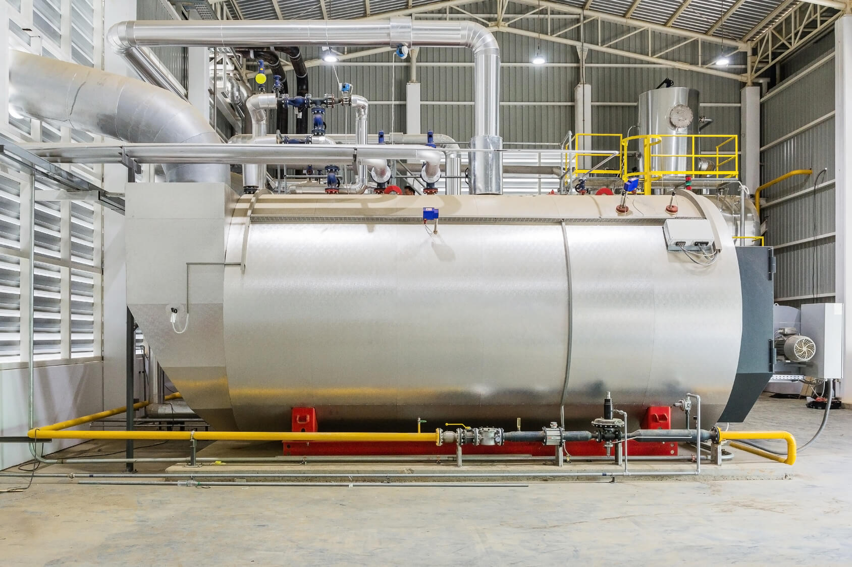 Hot water boiler package system for industrial gas heating | Forain
